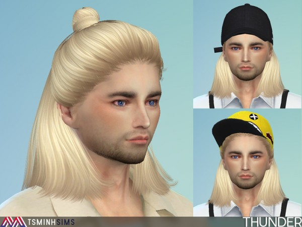 The Sims Resource: Thunder Hair 38 by TsminhSims for Sims 4
