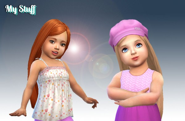 Mystufforigin: Melodious Hairstyle for Toddlers for Sims 4