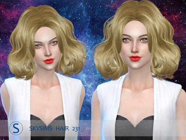 Butterflysims: Skysims 231 hair for Sims 4