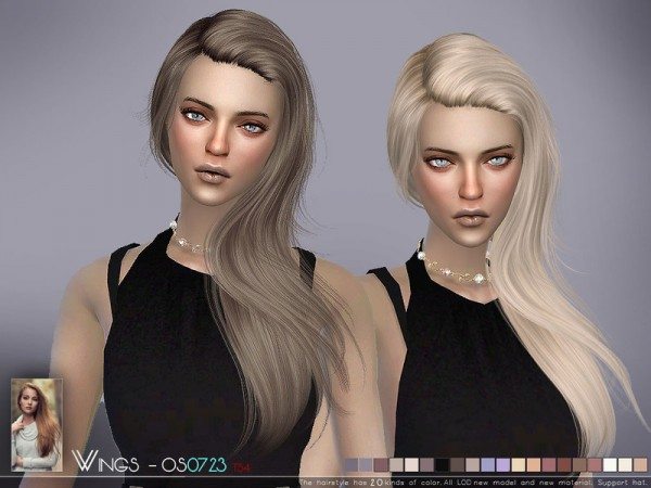 The Sims Resource: WINGS OS0723 hair for Sims 4