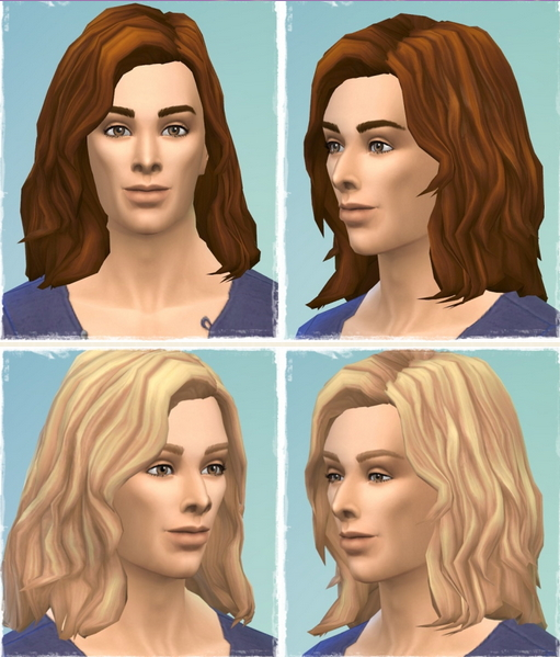 Birksches sims blog: Marvin hair for Sims 4