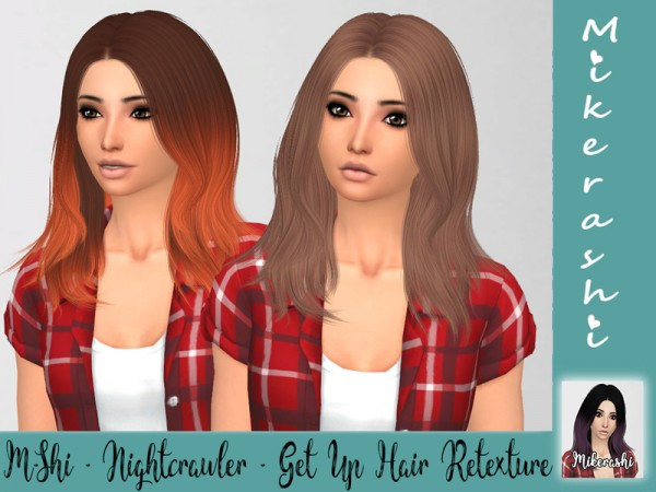 The Sims Resource: Nightcrawler`s Get Up Hair Retextured by mikerashi for Sims 4