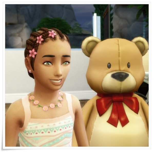 Birksches sims blog: Child Braid Bun hair for Sims 4