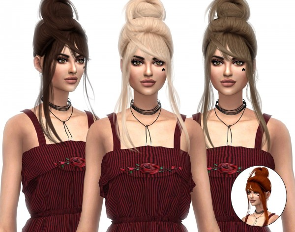Kenzar Sims: WingsSims OS0713 Naturals hair retextured for Sims 4