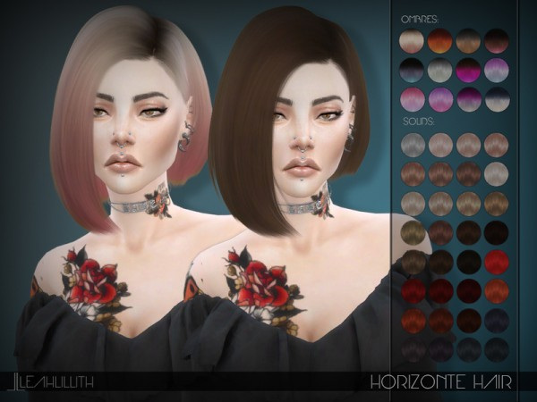The Sims Resource: Horizonte Hair by Leahlillith for Sims 4