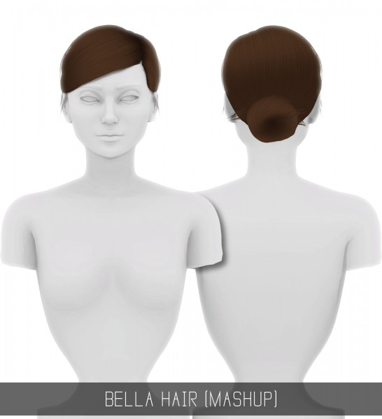 Simpliciaty: Bella hair for Sims 4