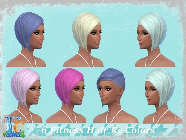 The Sims Resource: Fitness hair recolored by erickiacoleman for Sims 4
