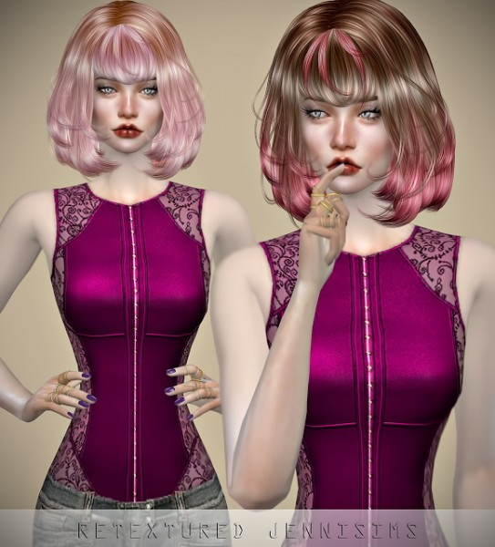 Jenni Sims: Newsea`s TwinkleTwinkle hair retextured for Sims 4