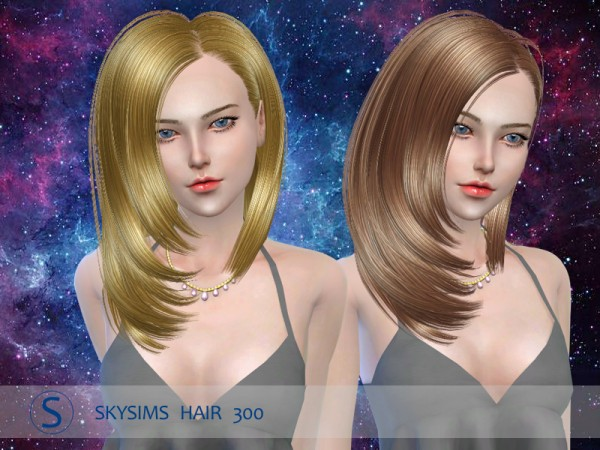 Butterflysims: Skysims hair 300 for Sims 4