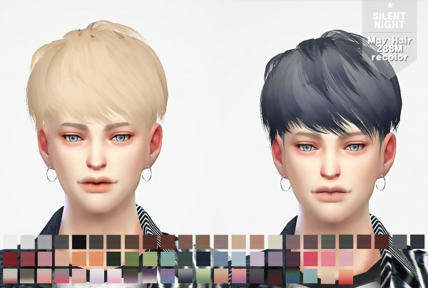Silent Night: May Hair 288M recolor for Sims 4