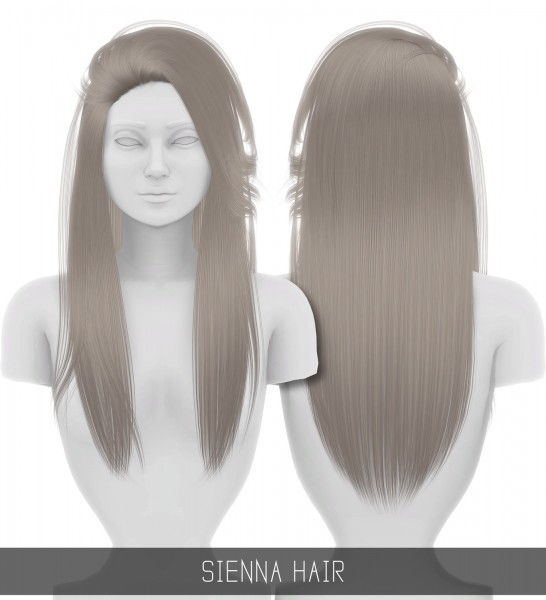 Simpliciaty: Sienna hair for Sims 4