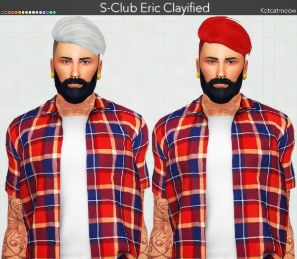 Kot Cat: S Club`s Eric Hair Clayified for Sims 4