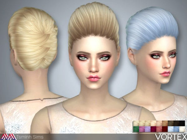 The Sims Resource: Vortex Hair 36 by TsminhSims for Sims 4