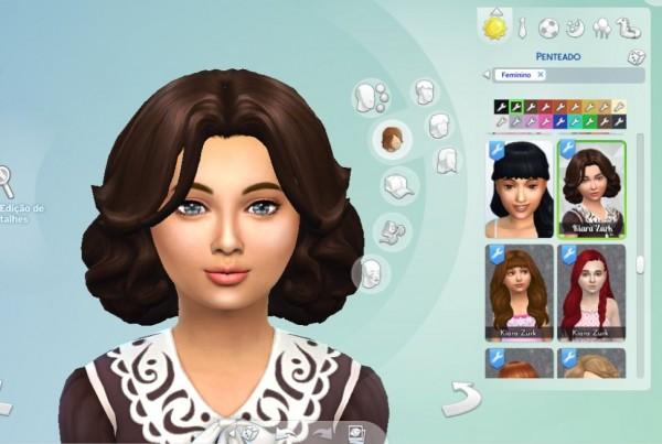 Mystufforigin: Jacqueline Hair for Girls for Sims 4