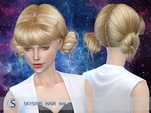 Butterflysims: Hair 109 by Skysims for Sims 4