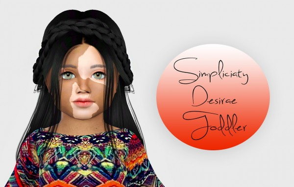 Simiracle: Simpliciaty`s Desirae hair retextured   Toddler Version for Sims 4