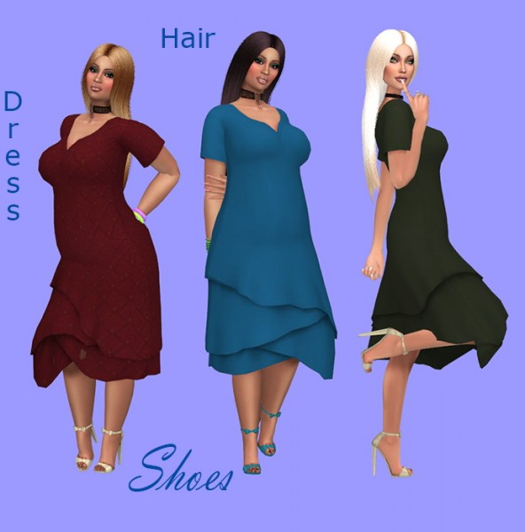 Sims Fun Stuff: Simpliciaty`s Moonlight Naturals hair retextured for Sims 4