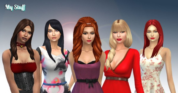 Mystufforigin: Long Hair Pack 11 for Sims 4