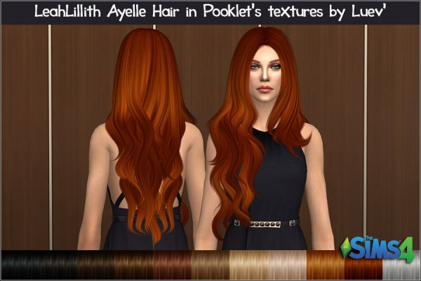 Mertiuza: Leahlillith`s Ayelle hair retextured for Sims 4