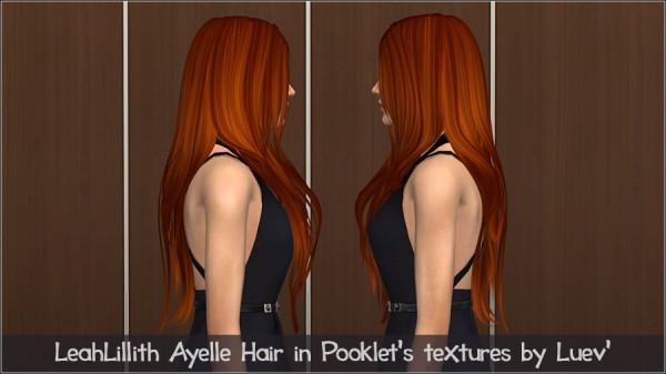Mertiuza: Leahlillith`s Ayelle hair retextured for Sims 4