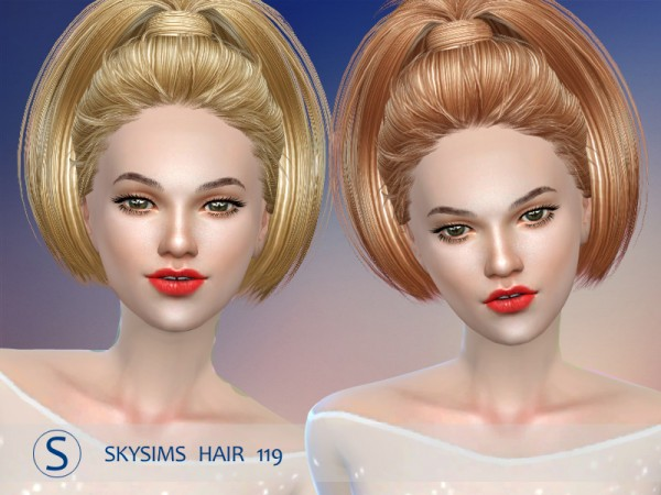 Butterflysims: Hair 119 by Skysims for Sims 4