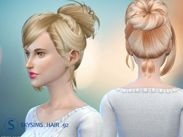 Butterflysims: Hair 092 by Skysims for Sims 4