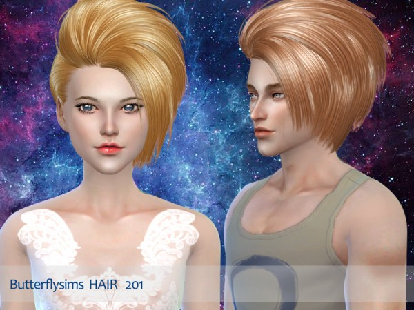 Butterflysims: Hair 201 for Sims 4
