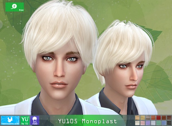 NewSea: YU105 Monoplast hair for Sims 4