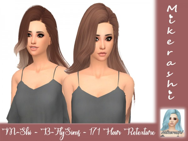 The Sims Resource: B FlySims   171 Hair Retextured by mikerashi for Sims 4