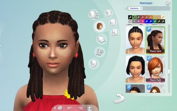 Mystufforigin: Box Braid Half Tied Conversion for Sims 4