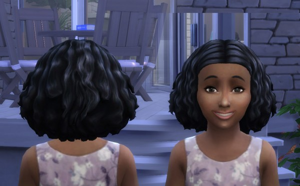 Mystufforigin: Funny Twists hair for girls for Sims 4