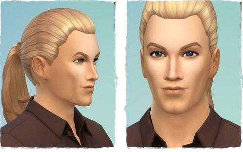Birksches sims blog: Back Ponytail for Sims 4