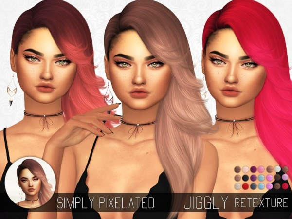 The Sims Resource: Nightcrawler`s Jiggly hair recolored by SimplyPixelated for Sims 4