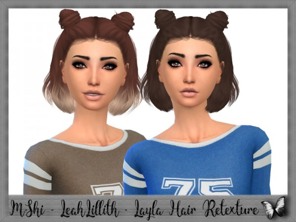 The Sims Resource: LeahLillith`s Layla Hair Retextured by mikerashi for Sims 4