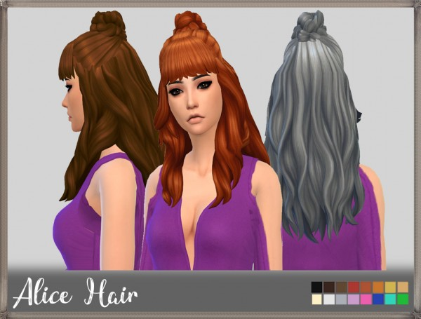 Mikerashi: Alice Hair for Sims 4