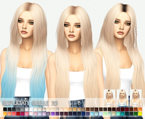 Miss Paraply: Simplicity`s giselle hair retextured for Sims 4