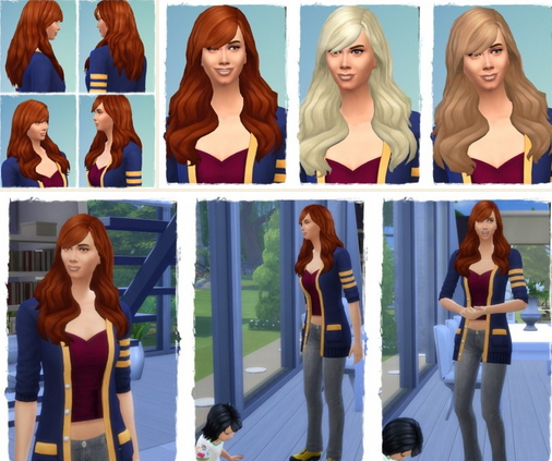 Birksches sims blog: Side by Side hair for Sims 4
