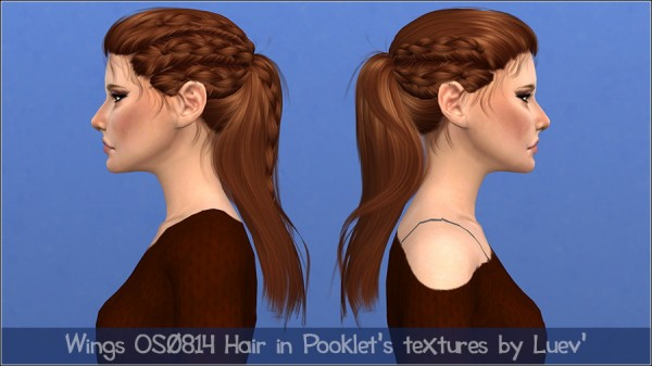 Mertiuza: Wings  OS0814 hair retextured for Sims 4