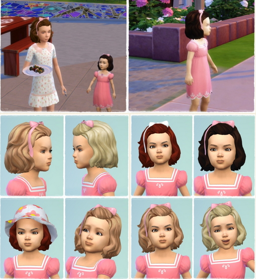 Birksches sims blog: Toddler's BirthdayHair for Sims 4