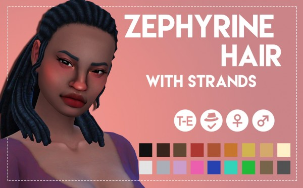 Simsworkshop: Zephyrine Hairs by Weepingsimmer for Sims 4