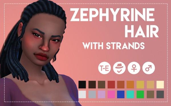 Simsworkshop: Zephyrine Hairs by Weepingsimmer for Sims 4