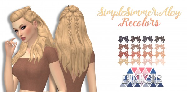 Simsworkshop: Aloy hair recolored by EnticingSims for Sims 4