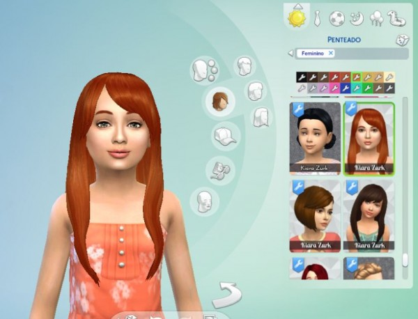 Mystufforigin: Diana Hair for girls for Sims 4