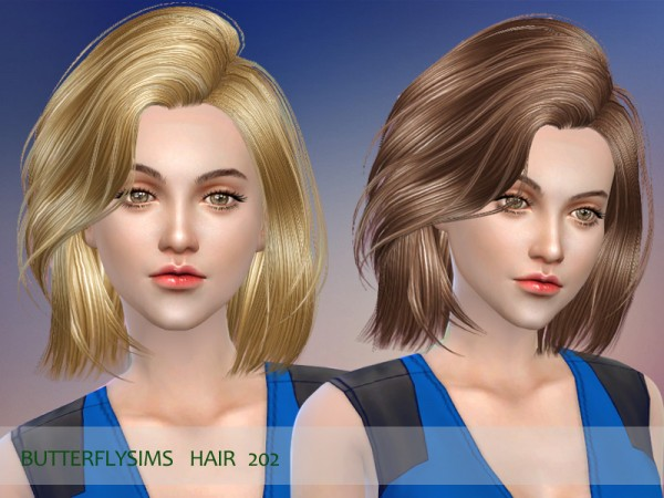 Butterflysims: Hair 202 for Sims 4