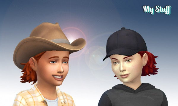 Mystufforigin: James Hairstyle for Boys for Sims 4