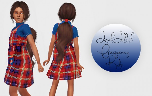 Simiracle: LeahLillith`s Frequency hair retextured   Kids Version for Sims 4
