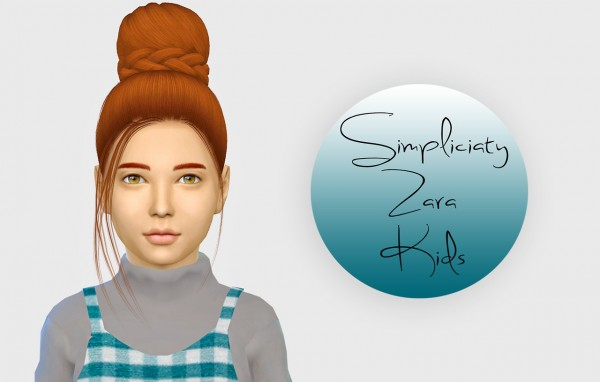 Simiracle: Simpliciaty`s Zara hair retextured   Kids Version for Sims 4