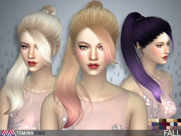 The Sims Resource: Fall Hair 41 by Tsminh Sims for Sims 4