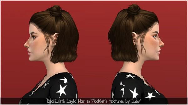 Mertiuza: Leahlillith`s Layla Hair retextured for Sims 4