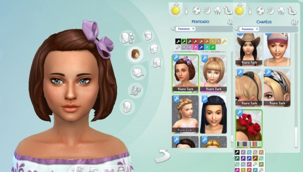 Mystufforigin: Bob Bow Hair for Sims 4